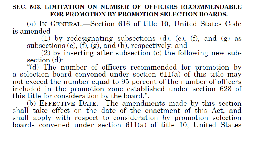 NDAA FY20 Section 503